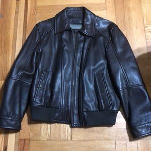 Andrew Marc Leather Jacket - Size L